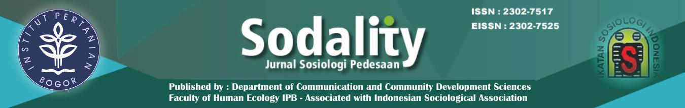 Sodality: Jurnal Sosiologi Pedesaan