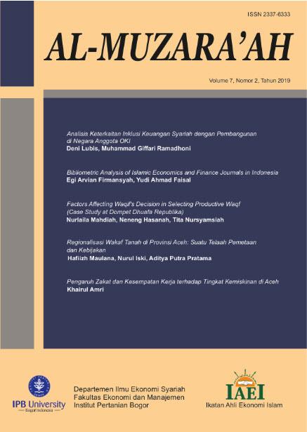 Analisis Keterkaitan Inklusi Keuangan Syariah Dengan Pembangunan Di Negara Anggota Oki Al Muzara Ah