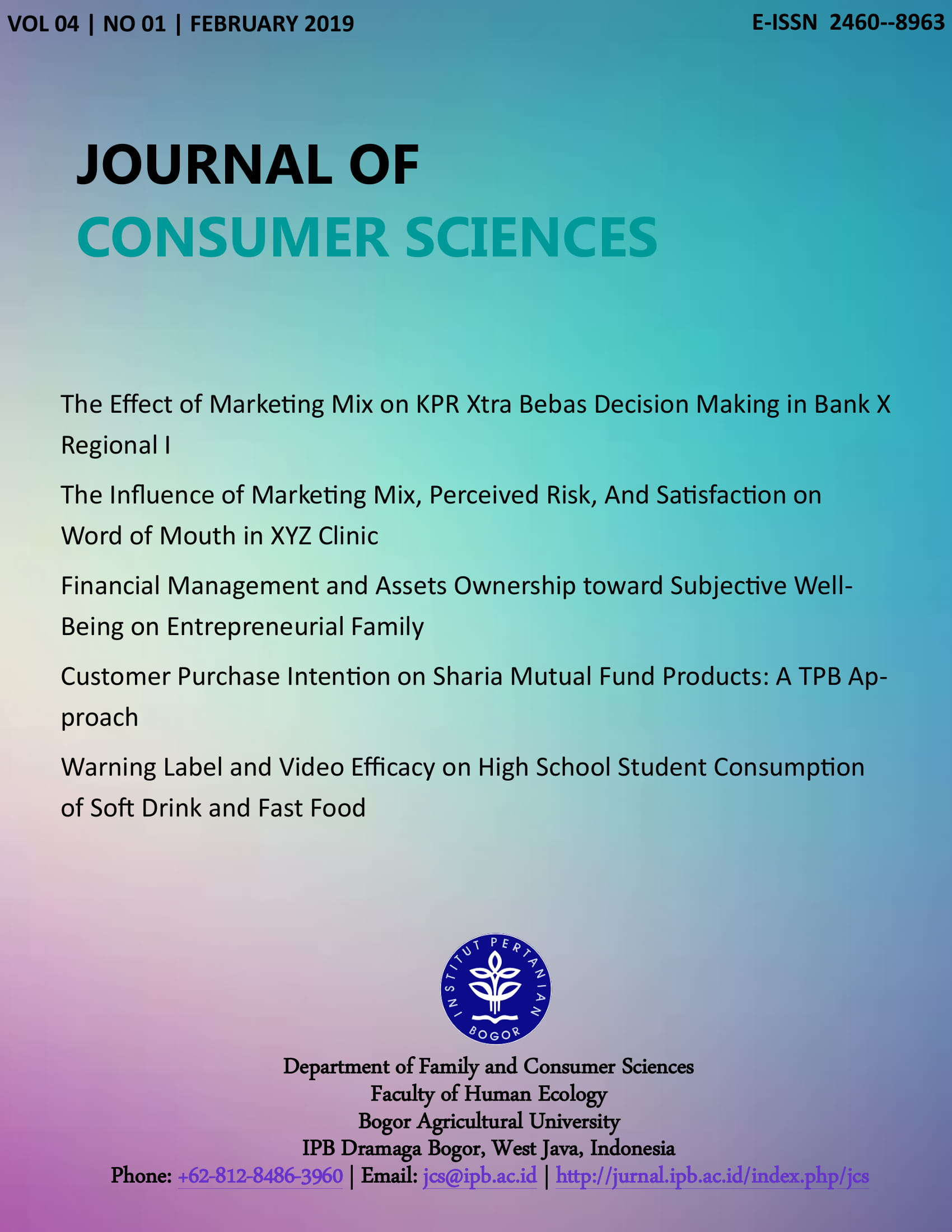Financial Management And Assets Ownership Toward Subjective Well Being On Entrepreneurial Family Journal Of Consumer Sciences