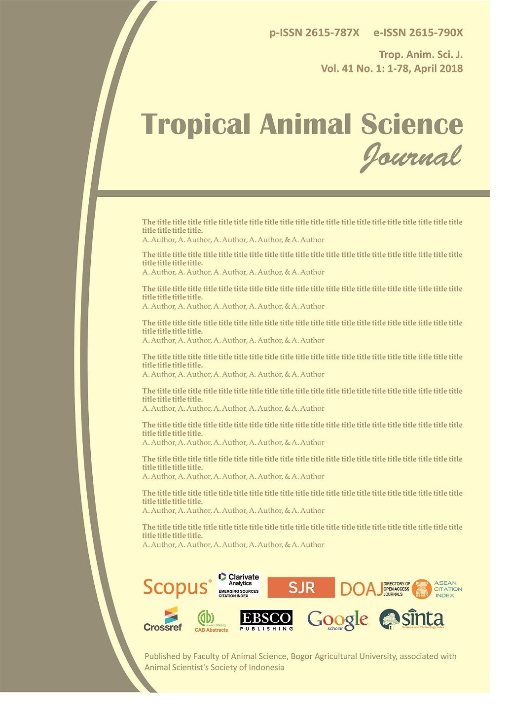 Tropical Animal Science Journal
